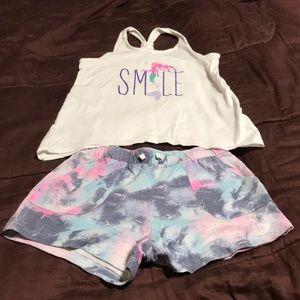 Girls Tank and Gym Shorts. EUC
